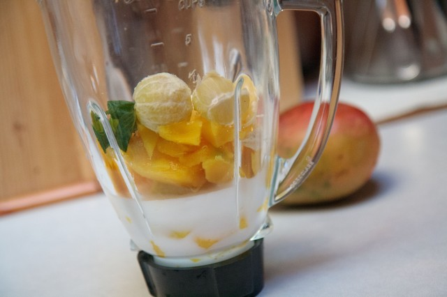 Lime Mint Mango Smoothie 2